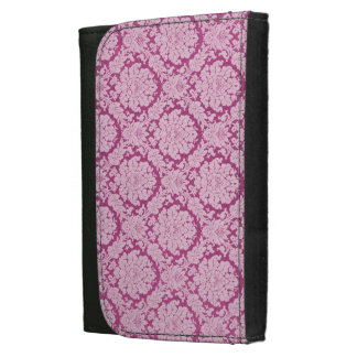 Work-Play-Pink berry-Damask-Stylish-Wallet's Leather Wallet