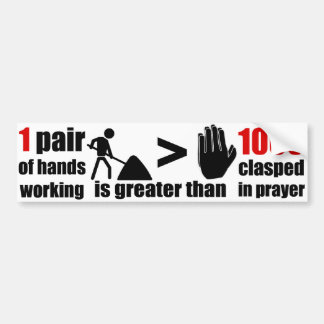 Work > Prayer Phrase - Bumper Sticker