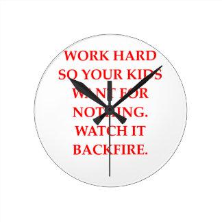 WORK ROUND CLOCK