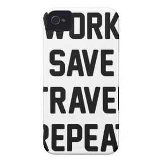 Work Save Travel iPhone 4 Cover