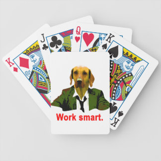 Work smart bicycle playing cards