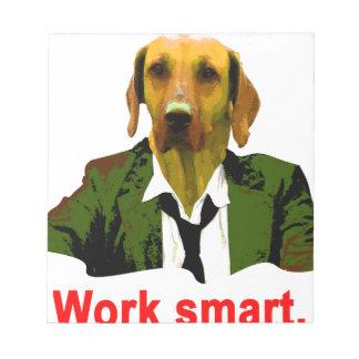 Work smart notepad
