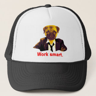 Work smart trucker hat