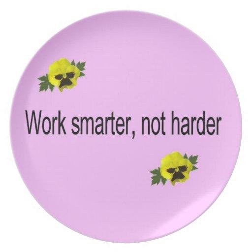 Work Smarter, Not Harder Dinner Plates