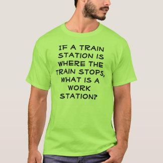 Work Station Joke Shirt