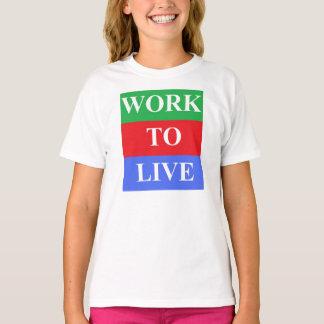 Work-To-Live Girls' Basic T-Shirt, White T-Shirt