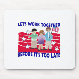 WORK TOGETHER MOUSE PAD