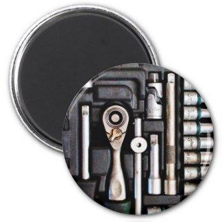 Work Toolbox - Industrial Print 6 Cm Round Magnet
