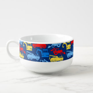 Work trucks soup mug
