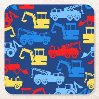Work trucks square paper coaster