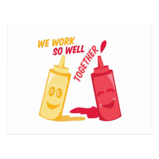 Work Well Together Postcard