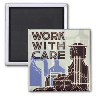 Work With Care - 1936 Fridge Magnets