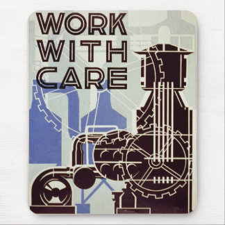 Work With Care - 1936 Mouse Pad