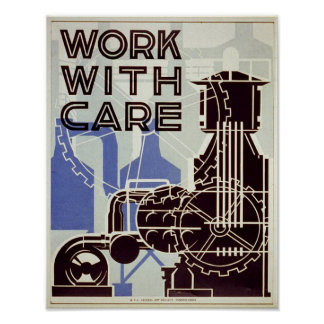 Work With Care - 1936 poster