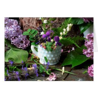 Workbench Bouquet Violets ©dianeheller2017 Card