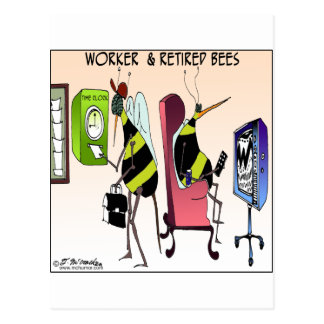 Worker and Retired Bee Postcard