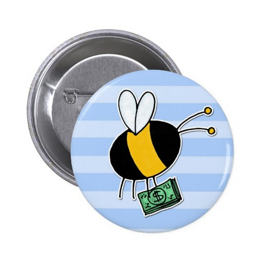 worker bee - banker pinback button