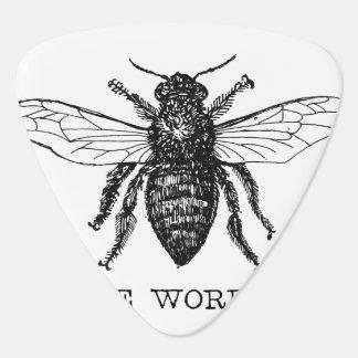 Worker Bee Bumblebee Vintage Motivational Plectrum