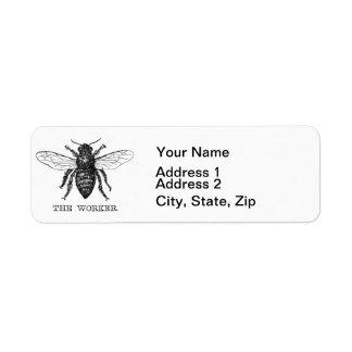 Worker Bee Bumblebee Vintage Motivational Return Address Label