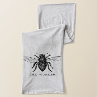 Worker Bee Bumblebee Vintage Motivational Scarf