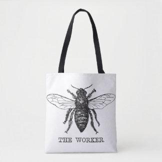 Worker Bee Bumblebee Vintage Motivational Tote Bag