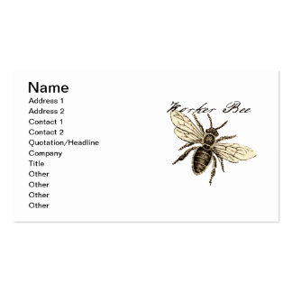 Worker Bee Business Card Templates