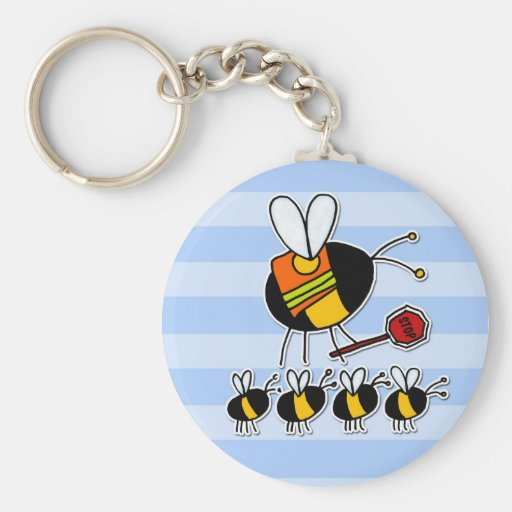 worker bee - crossing guard key chains