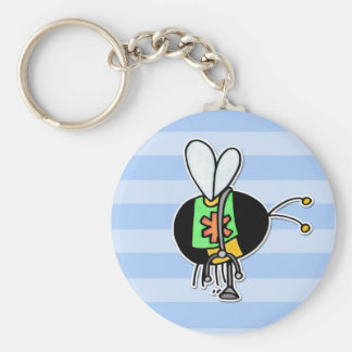 worker bee - paramedic basic round button key ring