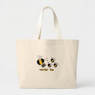 worker bee - teacher jumbo tote bag
