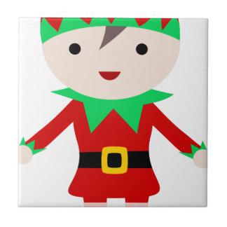 Worker Elf Ceramic Tile