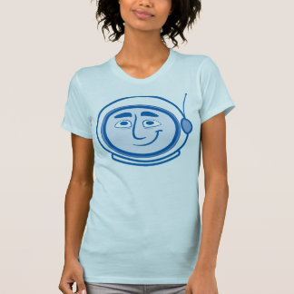Worker Studio's COSMO Blue on Blue for Women Tshirt