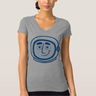 Worker Studio's COSMO V-neck in Blue for Women T Shirts