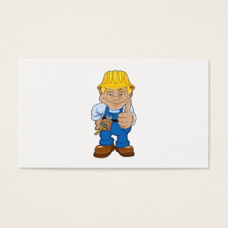 Worker With Hard Hat Business Card
