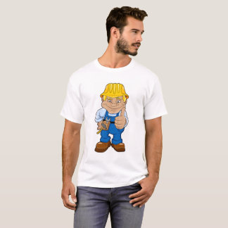 Worker With Hard Hat T-Shirt