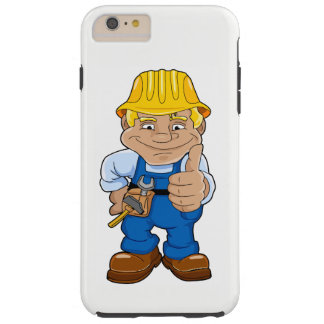 Worker With Hard Hat Tough iPhone 6 Plus Case