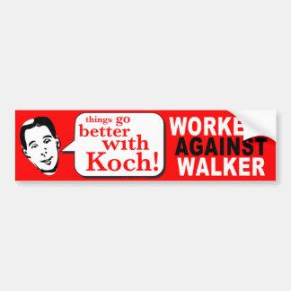 Workers Against Walker Bumper Sticker