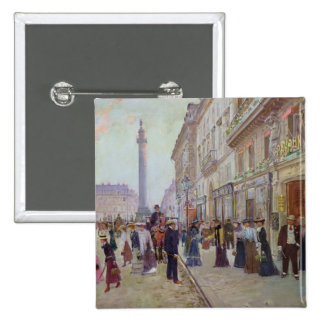 Workers leaving the Maison Paquin 15 Cm Square Badge