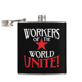 Workers of the World Unite! Communist Hip Flask