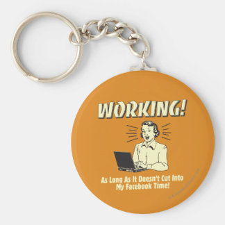 Working: Cut into Facebook Time Basic Round Button Key Ring