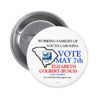 Working Families For Elizabeth Colbert Busch 6 Cm Round Badge