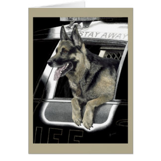 "Working German Shepherd Card - ""K9 Ronin"""