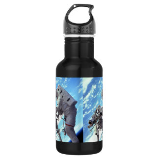 Working In Space - Incredible Earth In Background 532 Ml Water Bottle