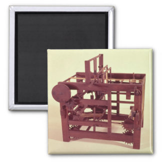 Working model of a loom square magnet