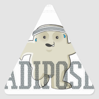 Working My Adipose Off - Exercise, Working Out Triangle Sticker