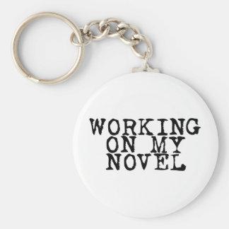 Working on my novel basic round button key ring