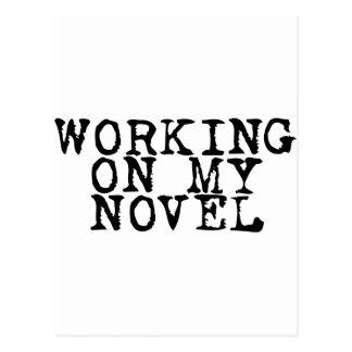 Working on my novel postcard