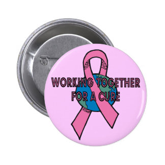 Working Together Breast Cancer Button