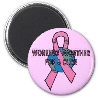 Working Together Breast Cancer Magnet