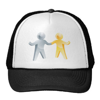 Working together concept mesh hats