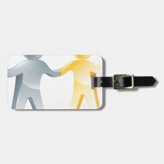 Working together concept luggage tags